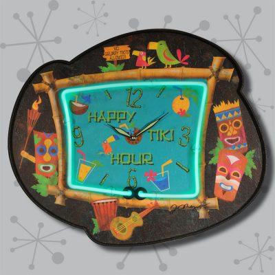 Happy Tiki Hour Clock