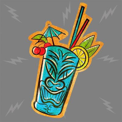 Tiki Drink Blue