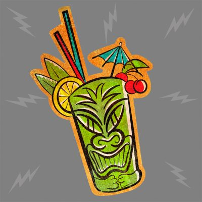Tiki Drink Green